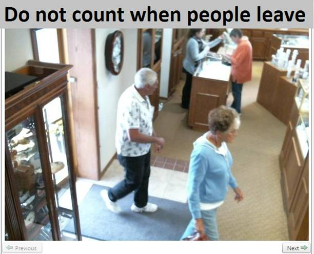 do not count when people leave