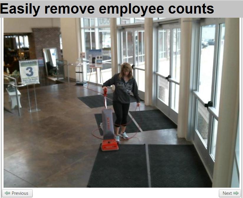 easily remove employee counts