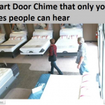 smart door chime that only your sales people can hear