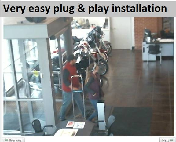 very easy plug & play installation